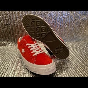 NEW Converse One Star Ox Men's Red Suede Low Top 1